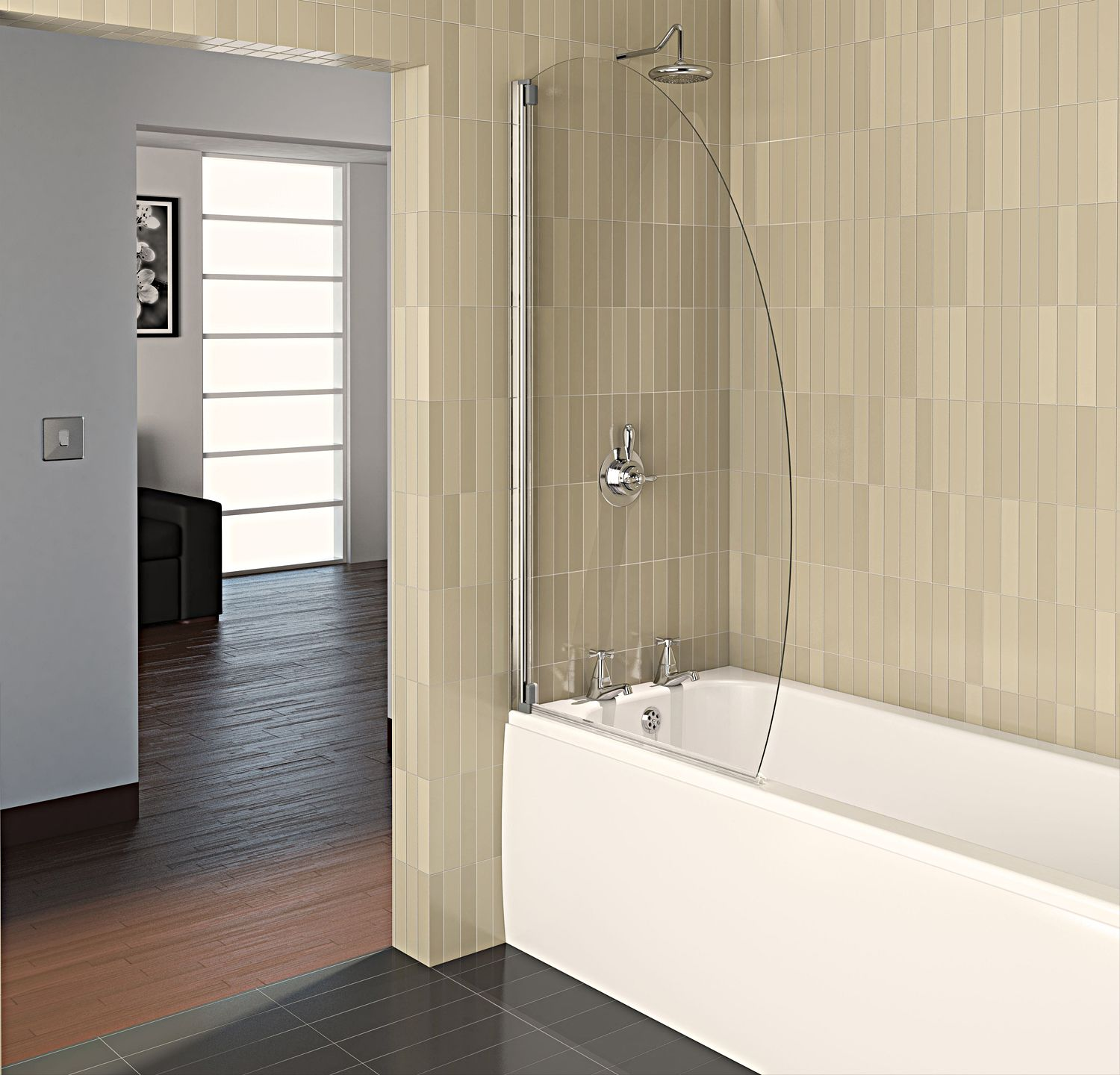 Baño De Ducha Procedimiento:Oval Bathroom Glass Shower Door